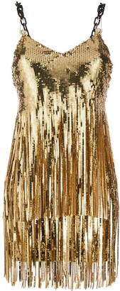 Philipp Plein Sequin Fringe Flapper Dress