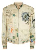 Alexander Mcqueen Postcard Print Bomber Jacket