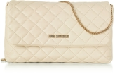 Love Moschino Evening Quilted Ivory Eco-Leather Crossbody Bag