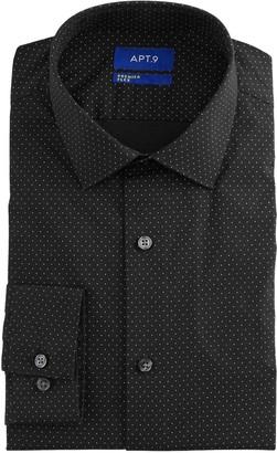 Apt. 9 Men's Extra-Slim Fit Stretch Spread-Collar Wrinkle-Resistant Dress Shirt