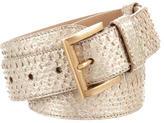 Prada Python Buckle Waist Belt