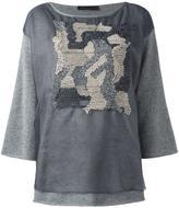 Fabiana Filippi camouflage detail jumper