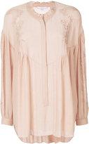 IRO lace panel peasant blouse