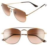 Ray-Ban Women's 54Mm Aviator Sunglasses - Brown/ Blue