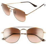 Ray-Ban Women's Icons 54Mm Aviator Sunglasses - Brown/ Blue