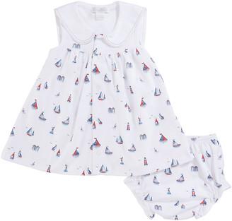 Kissy Kissy Seaside Surprise Printed Dress Set w/ Bloomers, Size 3-24 Months