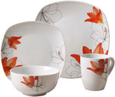 Tabletops Unlimited Tabletops Gallery Lily 16-pc. Ceramic Dinnerware Set
