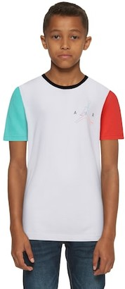 Jordan Air Future Color Blocked T-Shirt - White / Aurora Green Bright Crimson Hyper Violet