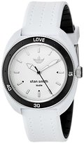 adidas Women's 'Stan Smith' Quartz Plastic and Silicone Casual Watch, Color:White (Model: ADH3187)