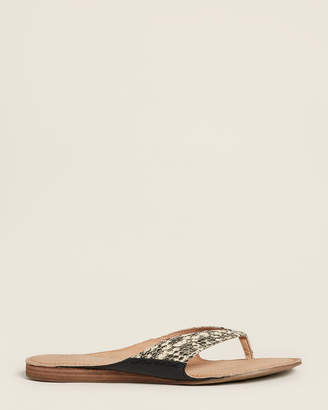 Aerosoles Bone Pocketbook Snakeskin-Effect Flip Flops