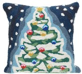 "Liora Manné Frontporch Christmas Tree Pillow Blue - (18""x18"") Square"