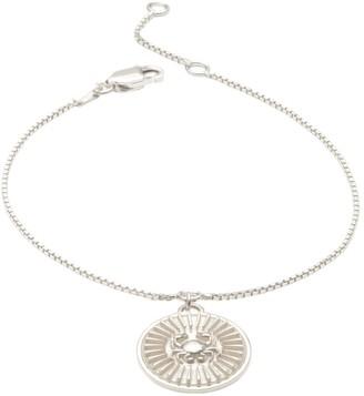 Rachel Jackson London Zodiac Art Coin Cancer Bracelet Silver