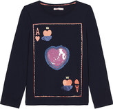 Billieblush Billie Blush Ace of hearts long-sleeved cotton top 4-12 years