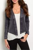 Potter's Pot Gray Sequined Blazer