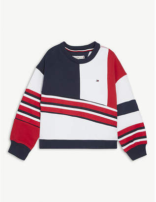 Tommy Hilfiger Striped cotton-blend sweater 4-16 years