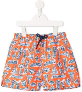 Sunuva Boat Print Swim Shorts