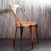 Graham and Green Isaac Iron Chair In Copper