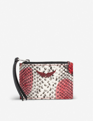Zadig & Voltaire Snake-print leather wallet