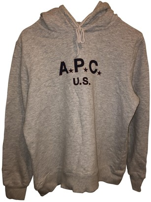 A.P.C. Grey Cotton Knitwear