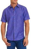 Robert Graham Santa Catalina Printed Short-Sleeve Shirt, Purple