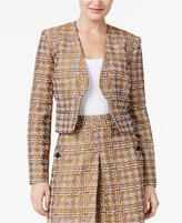 Nine West Metallic Houndstooth Jacket