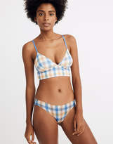Madewell Cotton-Modal Bikini in Rainbow Check