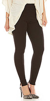 Hue Luxe Ponte Side-Slit Leggings