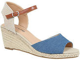 Yours Clothing YoursClothg Plus Size Womens Two Part High Wedge Espadrille Sandal Eee Fit