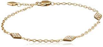 Fossil Women Stainless Steel Hand Chain Bracelet JOF00421710,Gold