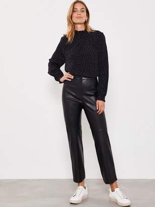 Mint Velvet Pu Straight Leg Trouser