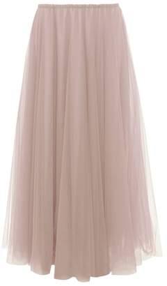 Raey Elasticated-waist Tulle Maxi Skirt - Womens - Light Pink