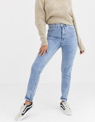 Vero Moda high waist mom jeans light wash