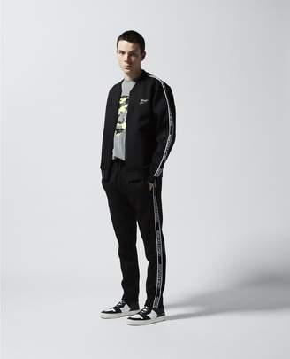 The Kooples Skinny black joggers with logo stripe