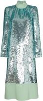 Tibi sequin-embellished midi dress