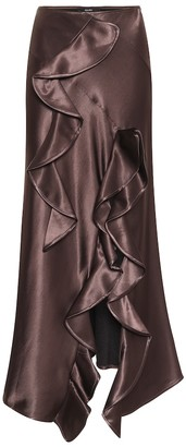 Ellery Salero satin midi skirt