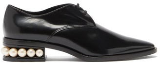 Nicholas Kirkwood Casati Pearl-heel Leather Derby Shoes - Black