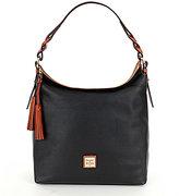 Dooney & Bourke Pebble Collection Small Sloan Tasseled Hobo Bag