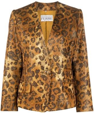 Gianfranco Ferre Pre Owned leopard print blazer