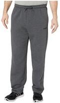 adidas Big Tall Essential Fleece Pants (Dark Grey Heather/Black) Men's Casual Pants