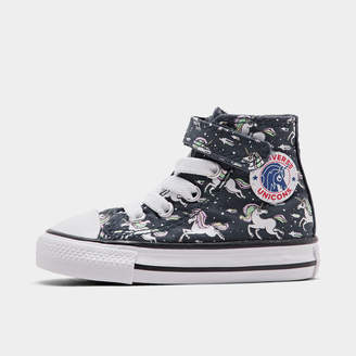 Converse Girls' Toddler Chuck Taylor All Star Unicorns Hook-and-Loop High Top Casual Shoes