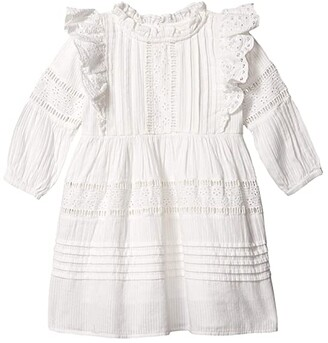 Cotton On Sasha Long Sleeve Dress (Little Kids) (White) Girl's Dress
