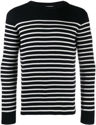 Saint Laurent Marinere Striped Knitted Jumper