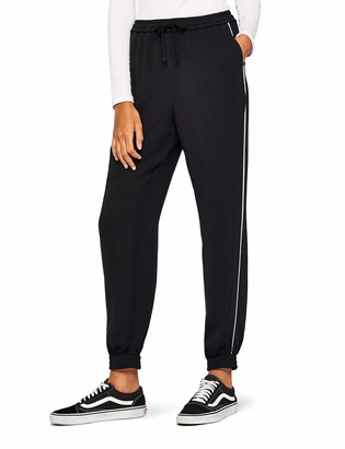 Find. Amazon Brand Women's Soft Woven Side Stripe Jogger Trouser