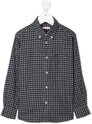 Sun 68 Kids Check Button-Down Shirt