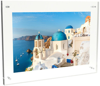 Lavish Home Acrylic Picture Frame- Clear Floating Design with Wall Mount , 14x19
