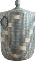 Pier 1 Imports Evie Blue Seagrass Laundry Hamper
