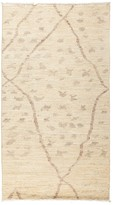 "Solo Rugs Moroccan Area Rug - Beige Minimalist Patterns, 3'9"" x 6'9"""