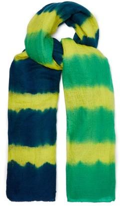 Allude Tie-dye Cashmere Scarf - Green Multi