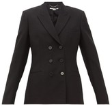 Stella McCartney Double-breasted Wool Twill Blazer - Womens - Black