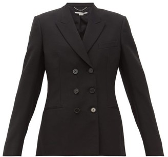 Stella McCartney Double-breasted Wool Twill Blazer - Womens - Black